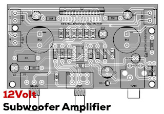 12V Subwoofer Power Amplifier