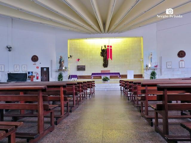 Vista do interior da Igreja de Nossa Senhora Dos Pobres - Butantã - São Paulo