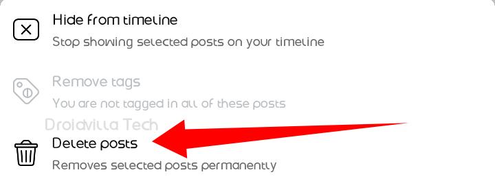 Delete All Facebook Post