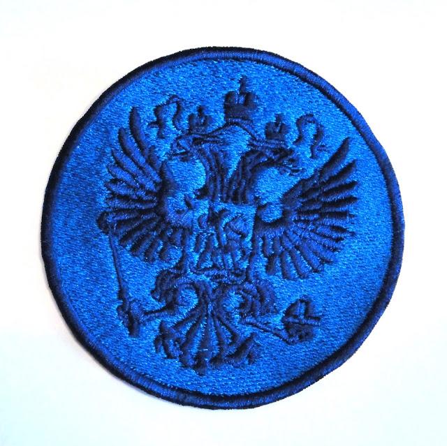 Нашивка герб России 9 см - заказать oksmoroz@yandex.ru