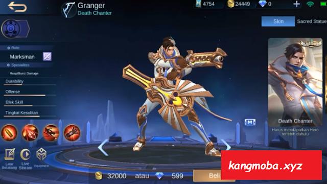 Script Skin Granger Lightborn Full Effect Mobile Legends Patch Terbaru