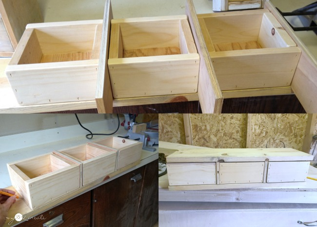 I so want to build this 3 Drawer storage Shel!  Full picture tutorial at MyLove2Create.com