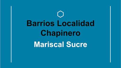 barrio mariscal sucre