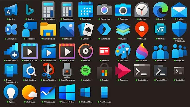 Windows 10 Arayüzünü Bambaşka Bir Hale Getirecek Simge Paketi [İndir]