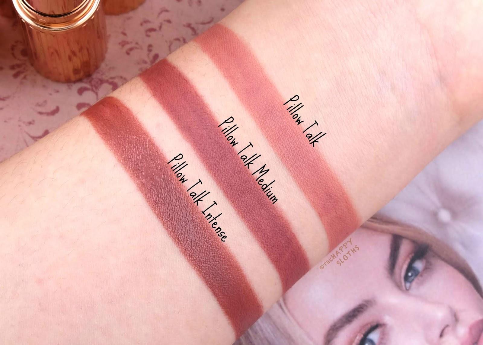 Charlotte Tilbury | Pillow Talk, Pillow Talk Medium & Pillow Talk Intense Lipstick: Review and Swatches