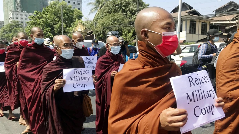 The army opened fire on protesters in Burma