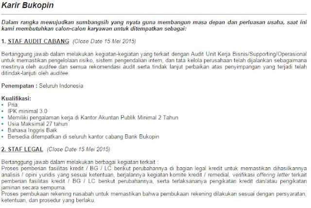 Terbaru Bulan Ini  - Lowongan Kerja Bank Bukopin Surabaya Terbaru 2020