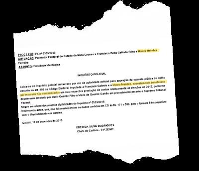 Documento confirma investigação contra o governador