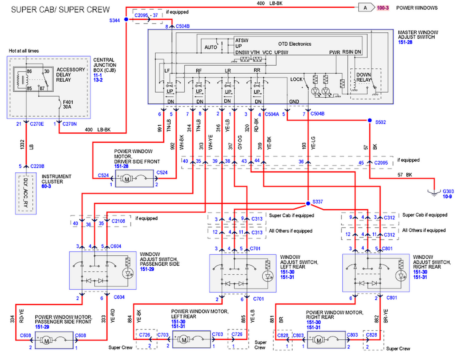 Wiring Switch Door Power Diagram Pigtail Trusted Gm Joe The Auto Guy 2004 2008 Ford F 150 Rear Windows Inoperative Window