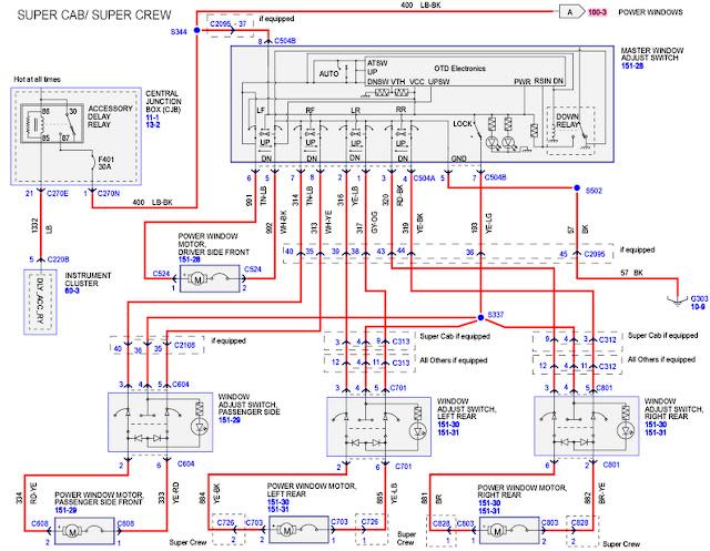 JOE THE AUTO GUY: 2004-2008 ford F-150 rear power windows inoperative | Ford F150 Power Windows Wiring Diagram |  | JOE THE AUTO GUY