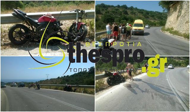 Σύβοτα: Μηχανή κόπηκε στα δύο - τραυματίστηκε ο οδηγός (+ΦΩΤΟ)
