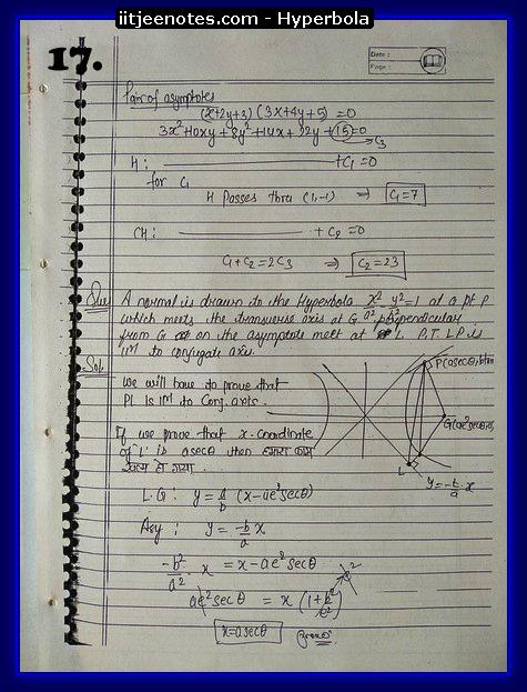 hyperbola notes