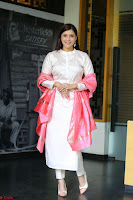 Mannara Chopra in Silky White Salwar Suit with Pink Chunni Latest Exclusive Pics March 2017 ~  040.JPG