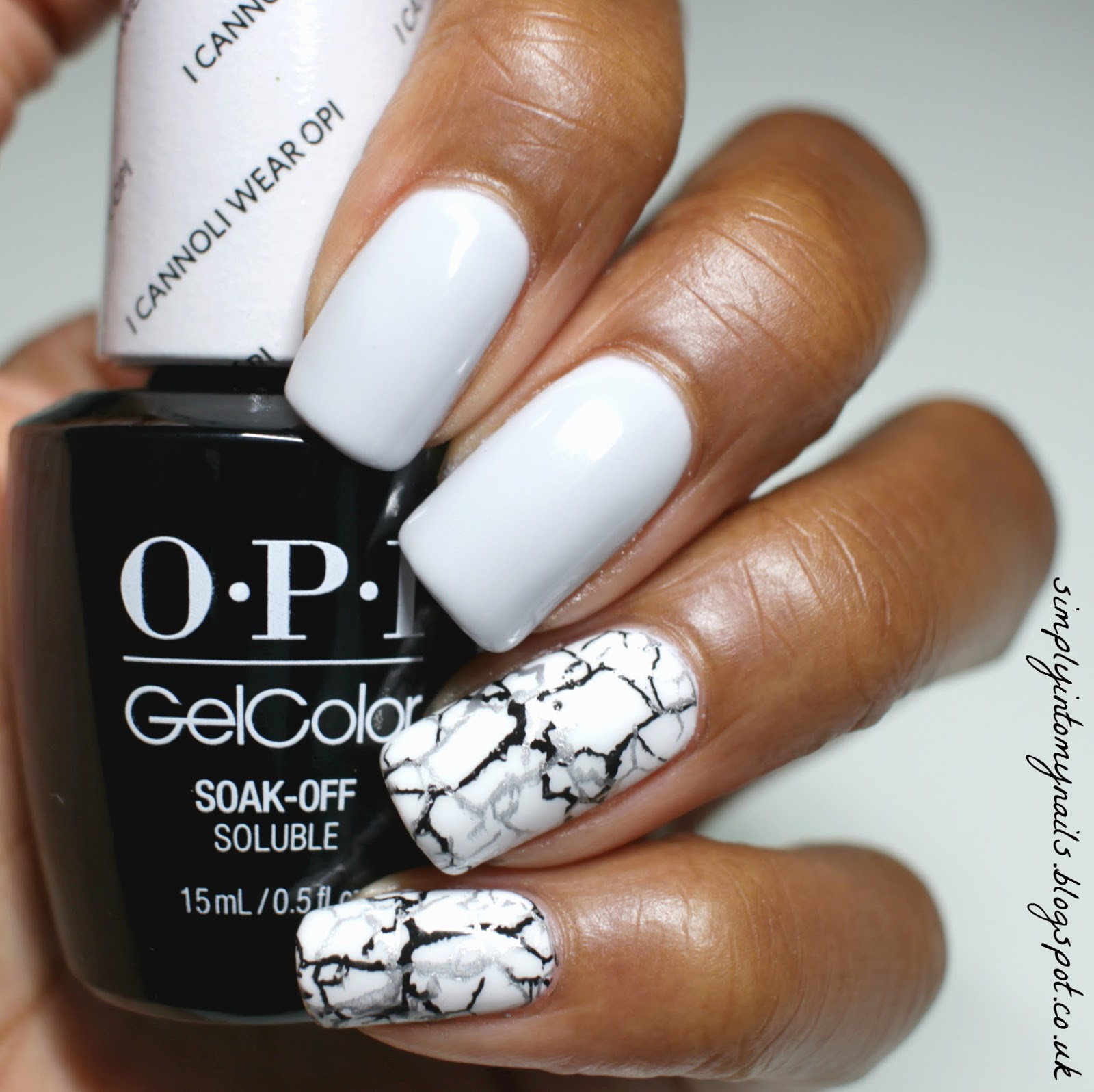 Opi Gelcolor I Cannoli Wear With Temporary Stamping