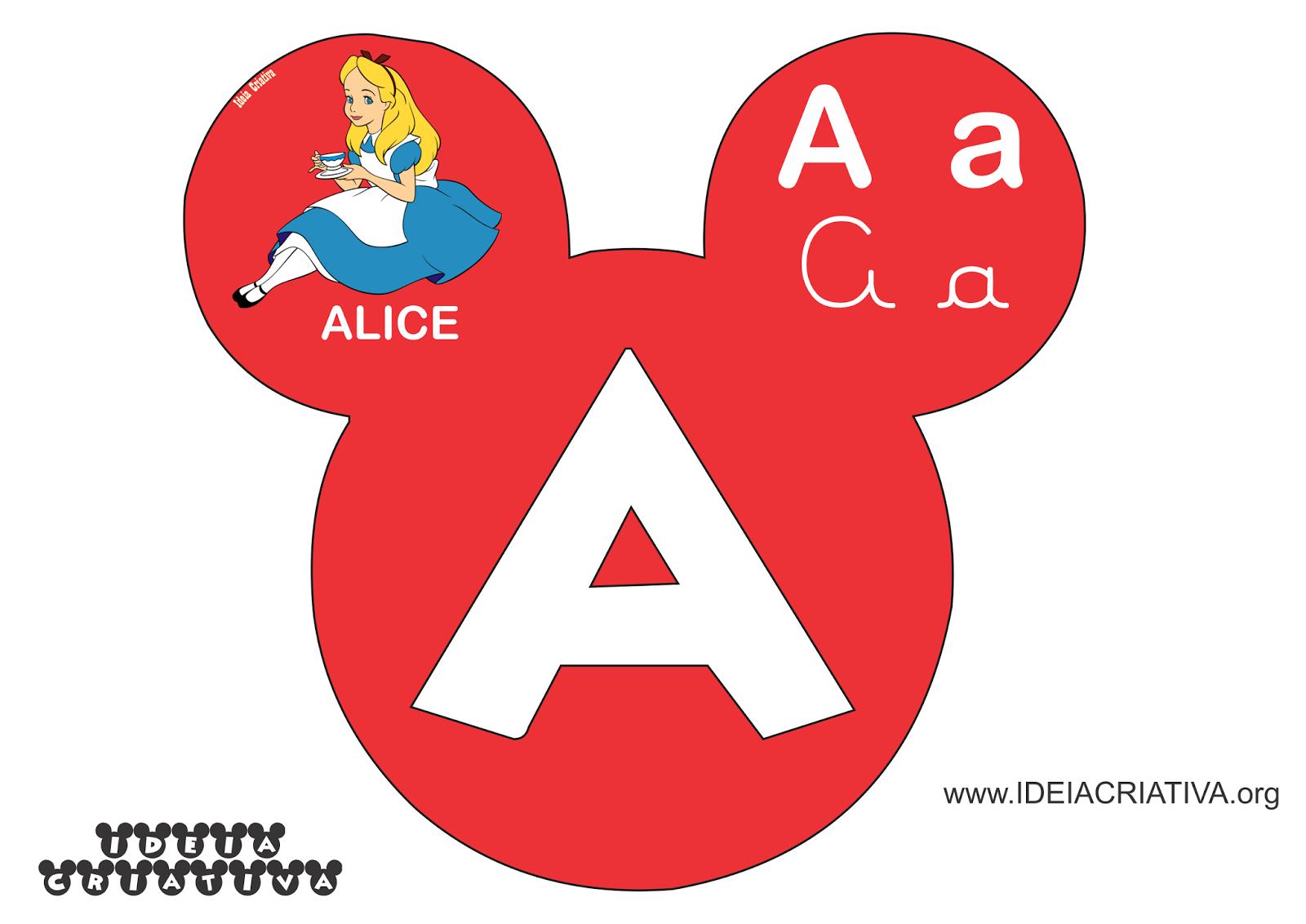 Alfabeto Mickey Minnie Disney Com Figuras De Personagens Infantis