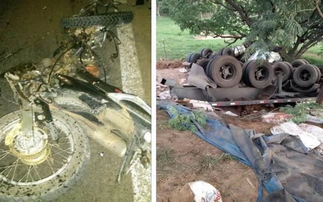 Chapada: Três pessoas morrem em grave acidente envolvendo carreta e moto na BA-242