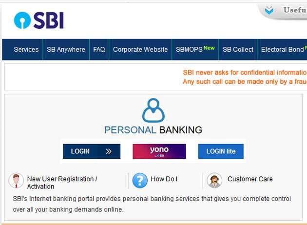 register on sbi net banking