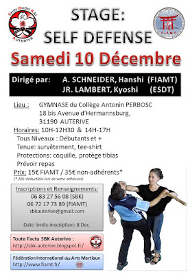 Stage self defense sbk auterive FIAMT ESDT le 1à decembre 2016