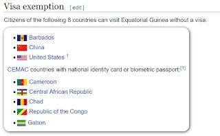 Who needs a visa for Equatorial Guinea?