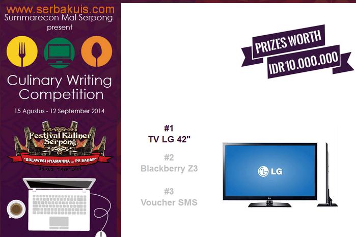 Culinary Writing Competition Berhadiah Utama TV LG 42 Inch