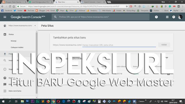 Inspeksi URL di Google Web Master (2018)