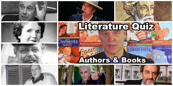 Authors and Books Quiz