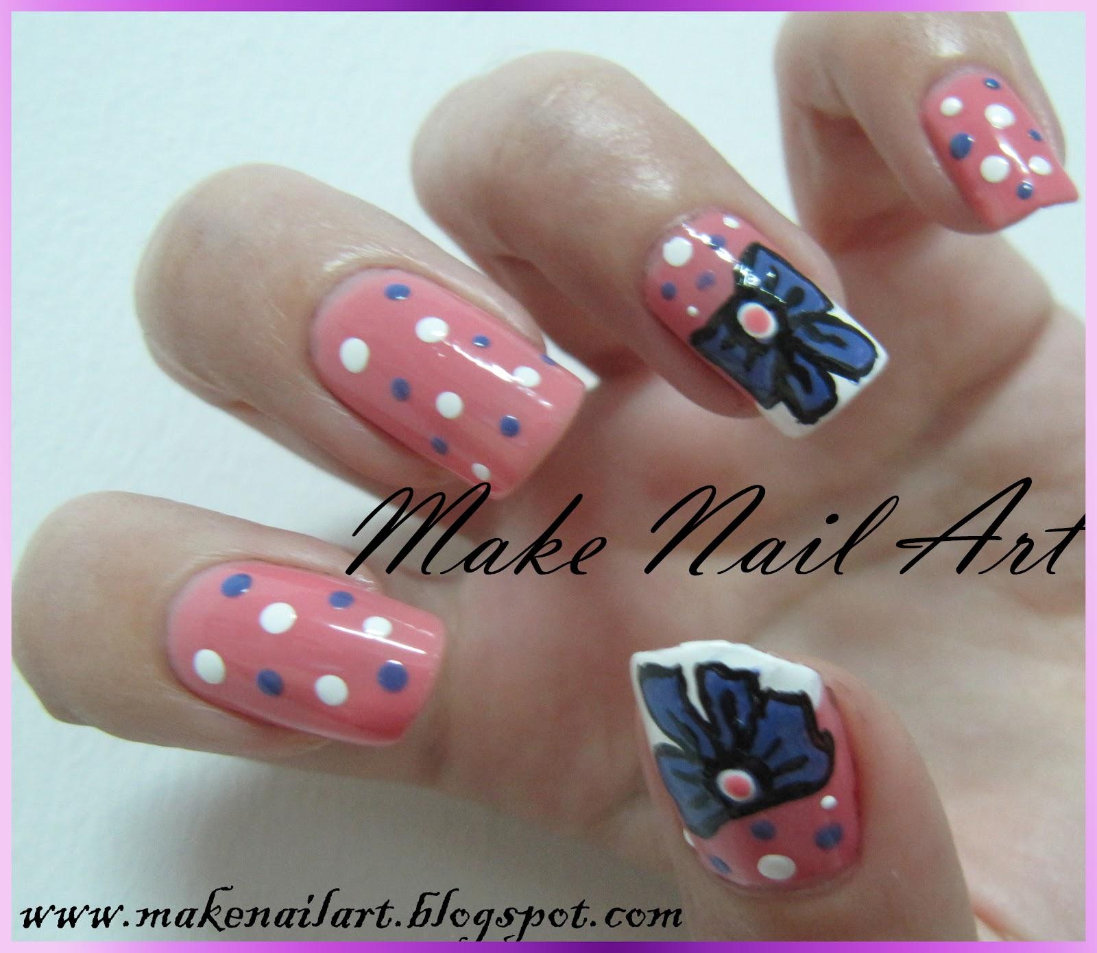 Make Nail Art Ribbon Nail Art Tutorial