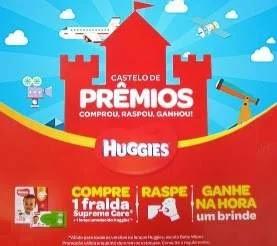 Promoção Huggies 2019 Castelo de Prêmios - Ganhe Brinde na Hora