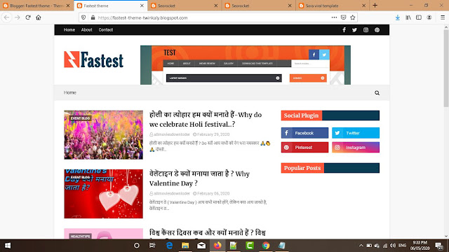 Fastest Premium Blogger Theme Free Download