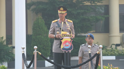Polda Banten menggelar upacara HUT Korpri ke-48