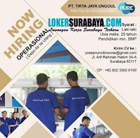Loker Surabaya di PT. Tirta Jaya Unggul Agustus 2020