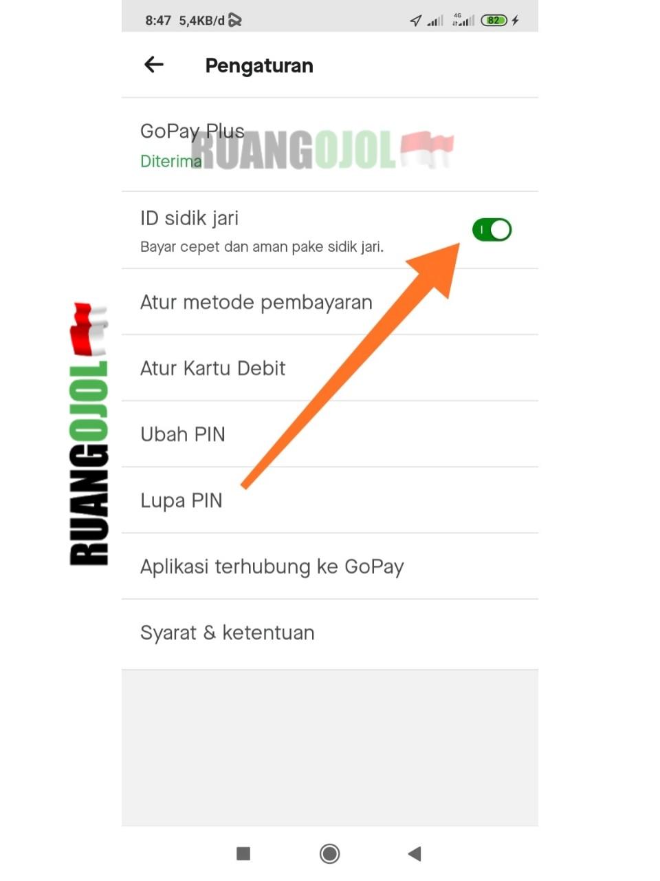 Cara Mengaktifkan ID Sidik Jari Gojek Untuk Pembayaran Mudah dan Cepat!