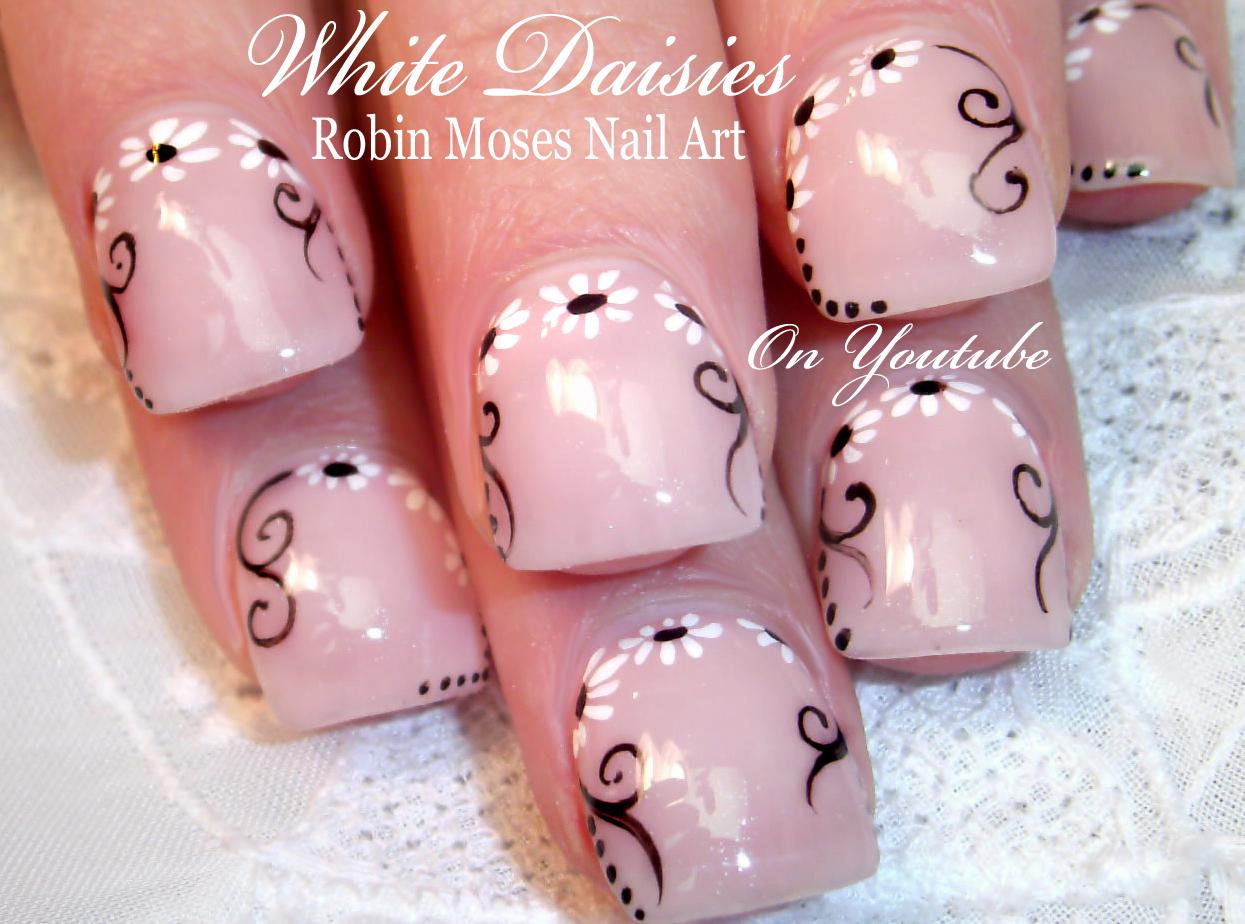Nail Art By Robin Moses 42 Daisy Nail Art Designs In My New Daisies