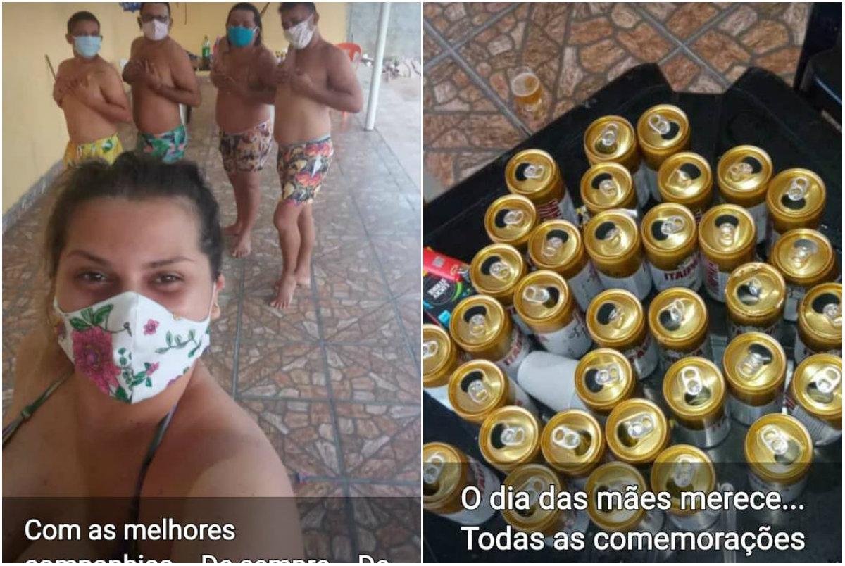 Fotos de secretária em bebedeira viralizam depois dela dar esculacho na população