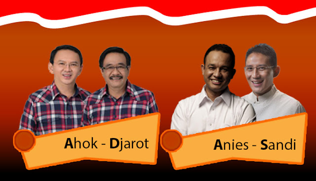 Pasangan Ahok-Djarot dan Anies-Sandi di Pilkada DKI Putaran 2.. Foto : http://poskotanews.com/2017/02/15/putaran-kedua-pilkada-dki-digelar-19-april-2017/