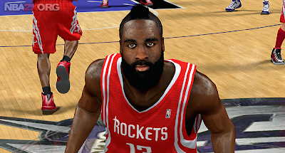 NBA 2K14 Mod - Real Face of James Harden
