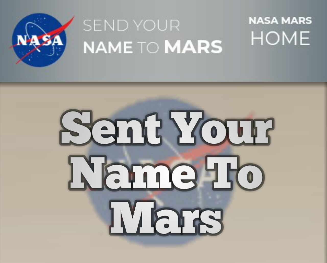 How to you sent your name to Mars