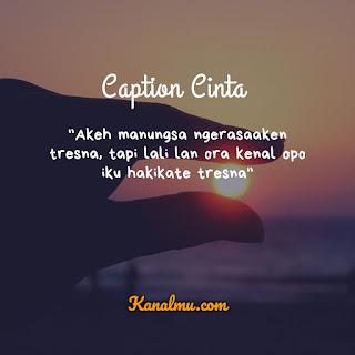 Caption Cinta Bahasa Jawa Bijak