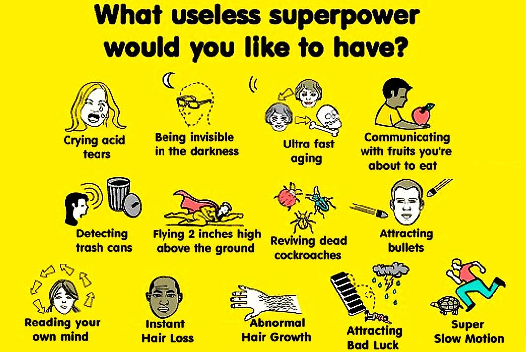 Image Result For Useless Superpowers
