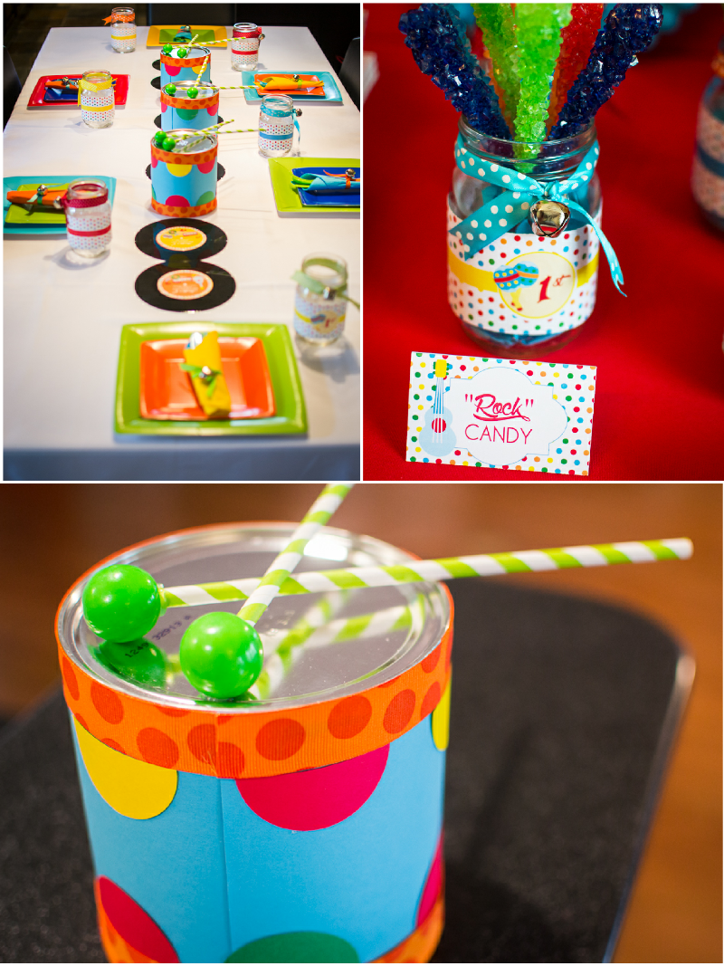 Baby Jam: A Music Inspired 1st Birthday Party DIY Decorations - via BirdsParty.com