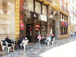 Fachada del casino de Cartagena en la que se encuentra el restaurante