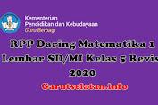RPP Daring Matematika 1 Lembar SD/MI Kelas 5 Revisi 2020