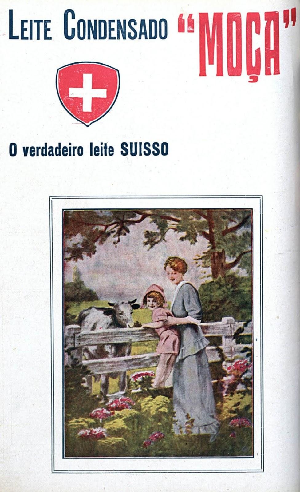 Propaganda antiga do Leite Moça veiculada em 1916