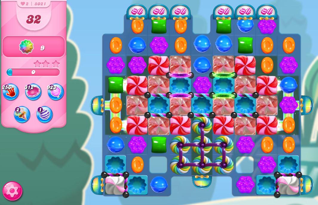 Candy Crush Saga level 8021