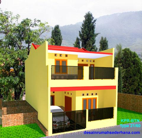 Desain Rumah Minimalis KPR-BTN Type 21/60 & Desain Rumah Minimalis Type 21/60 2 Lantai - Erectronic