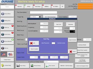 HMI Screen showing 'Q' Factor