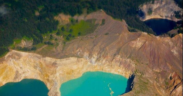 بحيرات,طبيعة,ألوان,جبل,بركان,كيليموتو