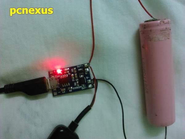 18650 battery charging circuit