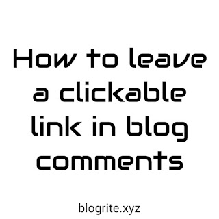 How to Create a Hyperlink in Blogger Comments