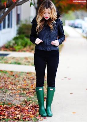 Botas con pantalones pitillos